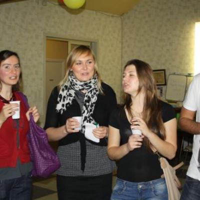 Soirée amicale avec les étudiants polonais