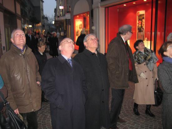 Un symbole de la Pologne: sonnerie du Hejnal  du haut du beffroi de l'église Ste Croix à Nantes 01/02/2011